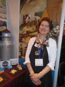 Jane Stewart with her lovely artisan cheeses