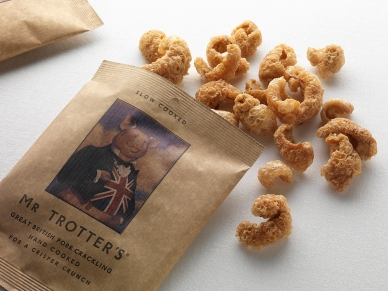 Stop the cheese! I bring you Mr Trotter's Pork Crackling, Crisps & Ale