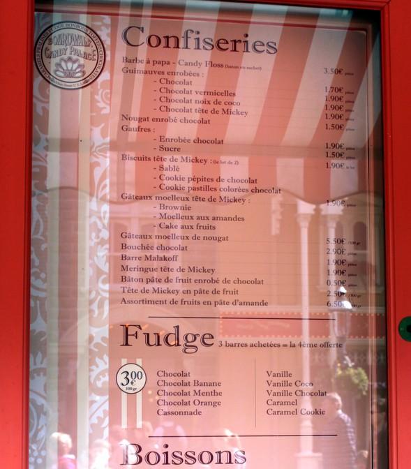 candy menu