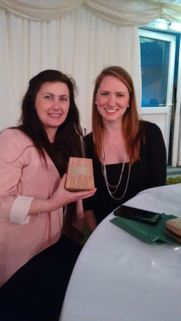 Kerena & Kate posing with their British Cheese Award