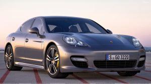 2011 Porsche Panamera Turbo S In Dark Grey Front Side Pose