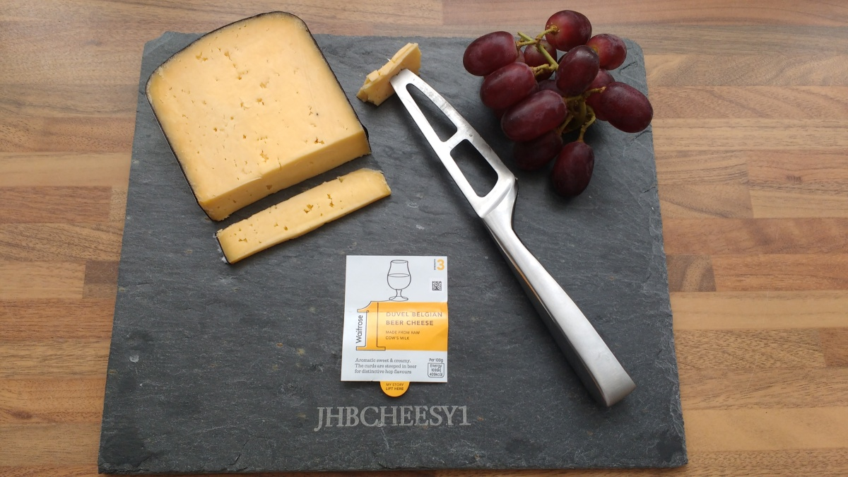 #WaitroseCheesy1 - Duvel Belgium Beer Cheese - You would be hopping mad to miss this one!